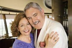 Mature couple embracing. Royalty Free Stock Photos