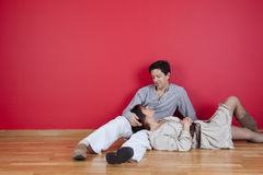 Mature couple enjoying the new house Royalty Free Stock Photography