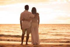 Free Mature Couple Enjoying Sunset Royalty Free Stock Photo - 44238695