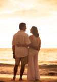 Mature Couple Enjoying Sunset Royalty Free Stock Photo