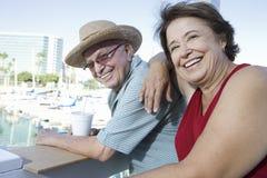 Mature Couple Enjoying Vacation Stock Image