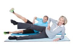 Mature couple exercising Stock Photography
