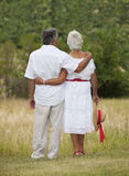 Mature Couple Facing Away Royalty Free Stock Photos