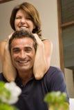Mature couple fooling around Royalty Free Stock Photos