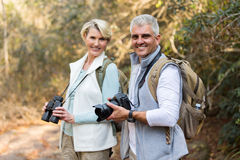 Mature couple forest Royalty Free Stock Photography