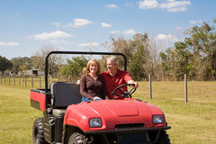 Mature Couple - Fun on the Farm Stock Photos