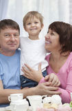 Mature couple with grandchild Royalty Free Stock Image