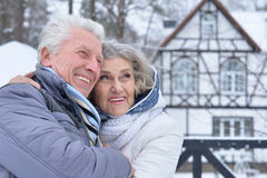 Mature couple happy together Stock Photo