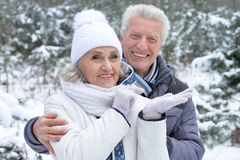 Mature couple happy together Royalty Free Stock Images