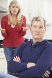 Mature Couple Having Arguement At Home Stock Photos