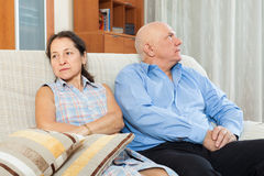 Mature couple having conflict Royalty Free Stock Images