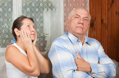Mature couple having a fight Royalty Free Stock Images