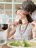 Mature couple having lunch. Royalty Free Stock Photos