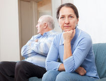 Mature couple having problems Royalty Free Stock Photos