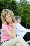 Mature couple having relationship problems Stock Images