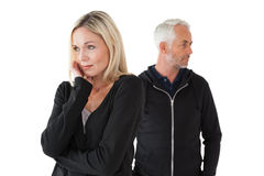 Mature couple having relationship problems Royalty Free Stock Photos