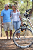 Mature couple having a walk Stock Images