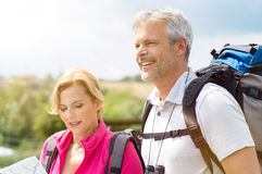 Mature Couple Hiking Together Royalty Free Stock Photo