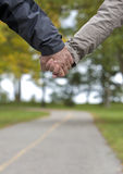Mature couple holding hands Stock Photography