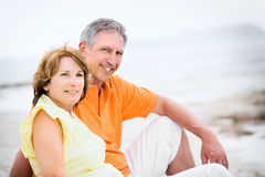 Mature couple on holidays Royalty Free Stock Photography