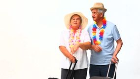 Mature couple in holidays Stock Image