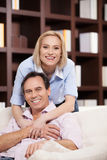 Mature couple at home. Royalty Free Stock Photo