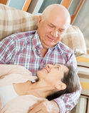 Mature couple in home Royalty Free Stock Image