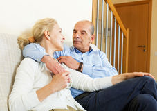 Mature couple in home interior Stock Photography