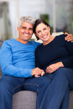 Mature couple home Stock Images