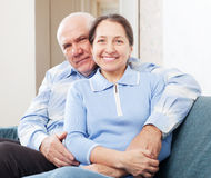 Mature couple  in home Royalty Free Stock Images