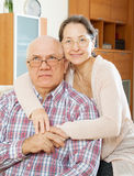 Mature couple at home Royalty Free Stock Photo