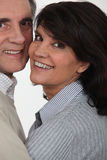 Mature couple hugging Stock Images