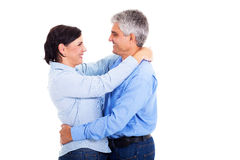 Mature couple hugging Stock Photography