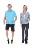 Mature couple jogging Royalty Free Stock Photography
