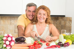 Mature couple in the kitchen Stock Photo