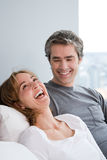 Mature couple laughing Stock Photo