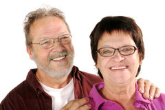 Mature couple in love Stock Images