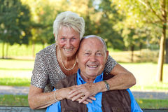 Mature couple in love Royalty Free Stock Photos