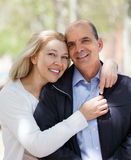 Mature couple in love outdoor Royalty Free Stock Photography