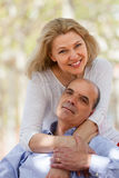 Mature couple in love outdoor Stock Photos