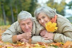 Mature couple lying Royalty Free Stock Photo