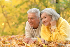 Mature couple lying Stock Image