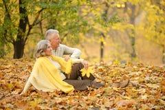 Mature couple lying Royalty Free Stock Photos
