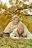 Mature couple lying Royalty Free Stock Images