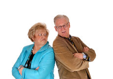 Mature couple mad at each other. Royalty Free Stock Photography