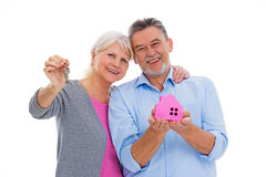 Mature couple moving house Royalty Free Stock Photos