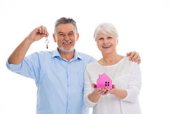 Mature couple moving house Stock Image