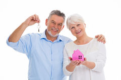 Mature couple moving house Royalty Free Stock Images