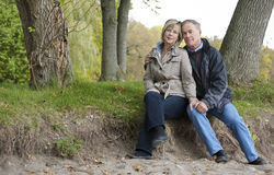 Mature couple outdoors Stock Image