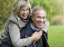 Mature couple outdoors Royalty Free Stock Photography